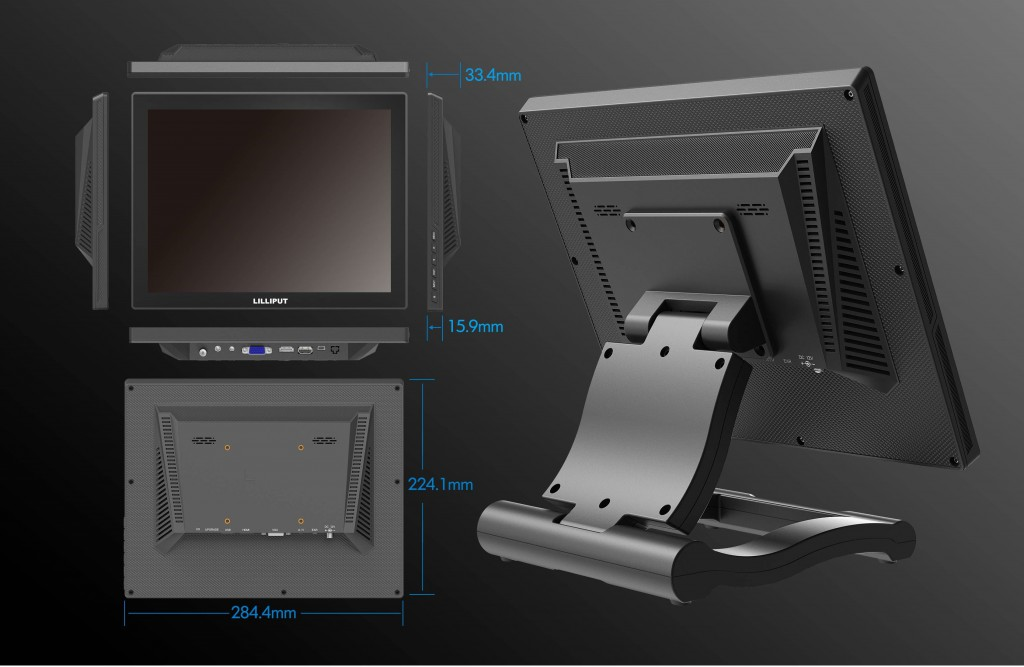 12.1 inch HDMI Capacitive Touch Monitor FA1210/C/T with High Brightness