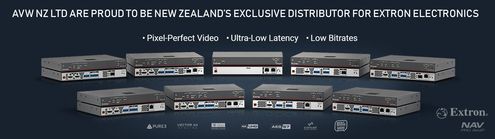 Audio Video Wholesalers Extron NAV Series - a new no-compromise Pro AV over IP platform