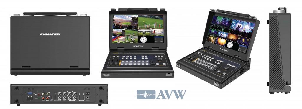 Portable 6CH SDI/HDMI Multi-format Video Switcher