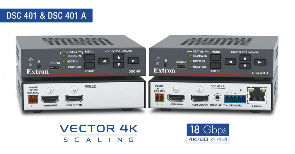 High Performance 4K/60 HDMI Scalers Featuring Essential & Enhanced Capabilities