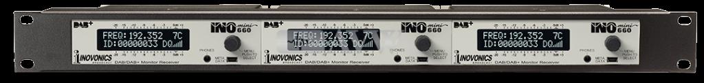 Three INOmini 660 DAB+ Rackpack Receivers Bundle