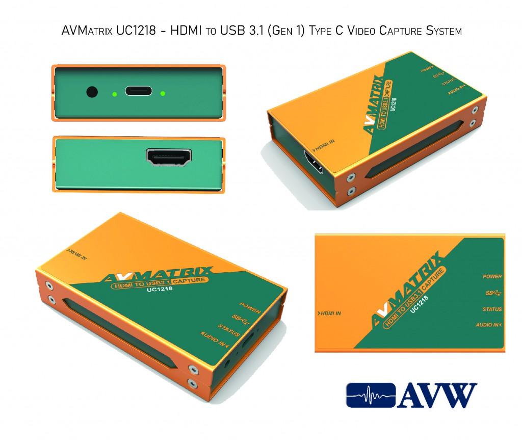 AVMatrix UC1218 - HDMI to USB 3.1 (Gen 1) Type C Video Capture System-03