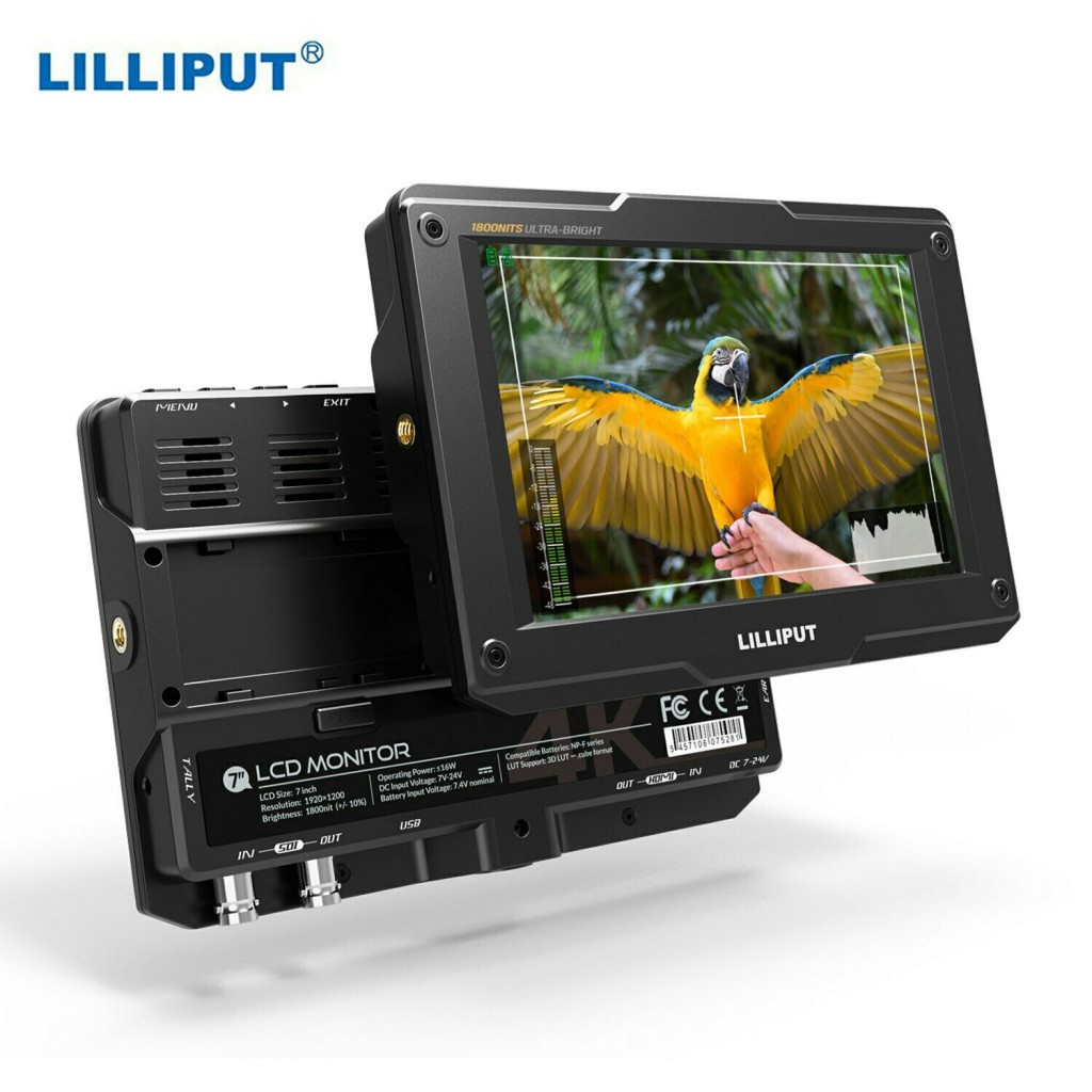 LILLIPUT H7S 7 Inch Ultra Brightness SDI 4K HDMI Monitor DSLR On-Camera Monitor