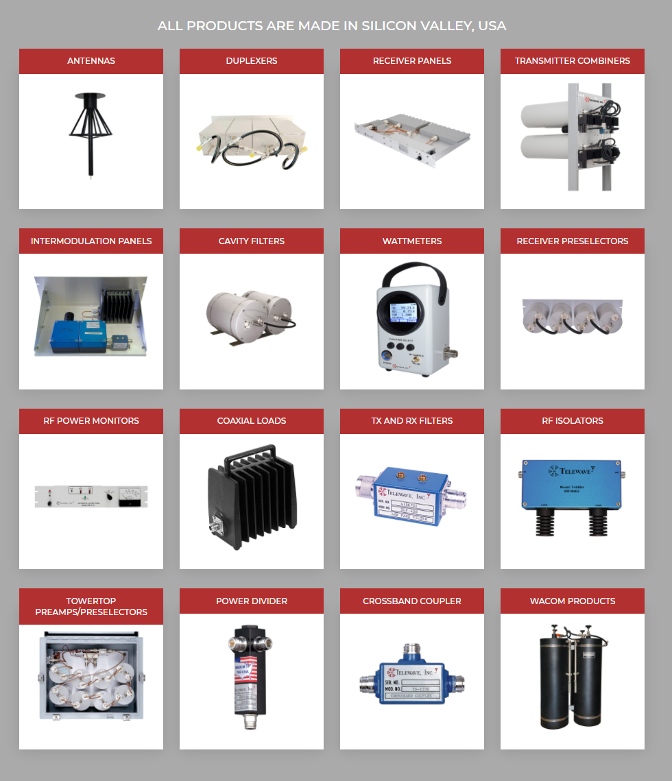 Telewave products list